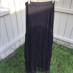 Free People Fringe Maxi Skirt